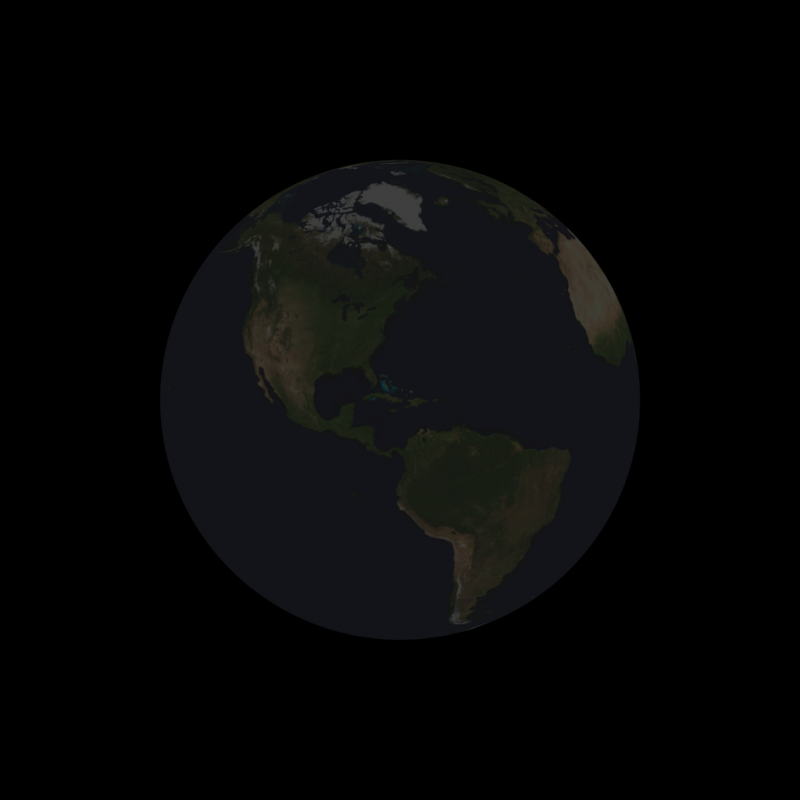totally dark Earth.