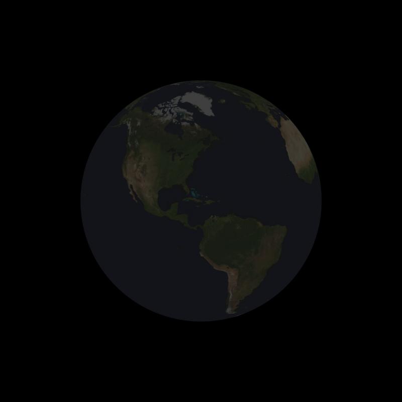 totally dark Earth.