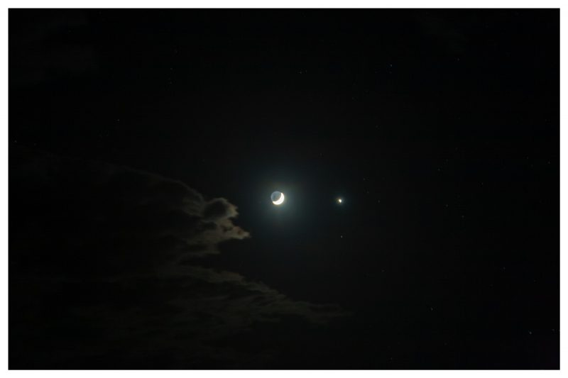 Duncan Tolmie captured the moon and Venus at 3:30 a.m. on January 2, 2019, in Warwick, Queensland, Australia.