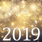 Fireworks, with 2019 printed below.