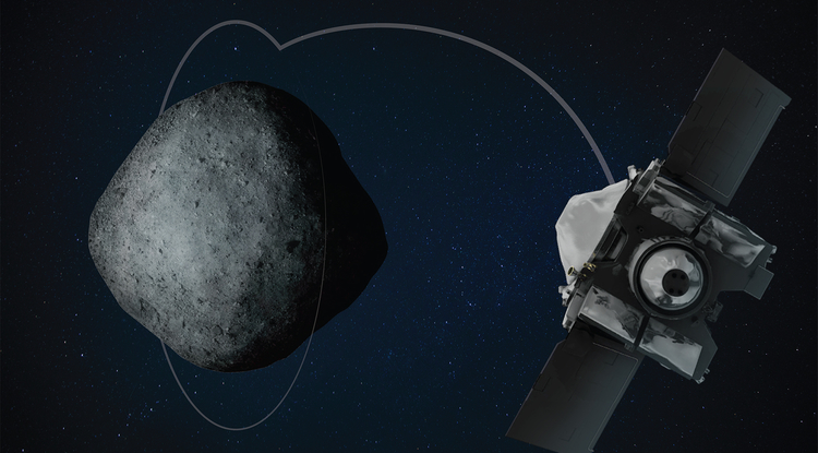 Spacecraft sets records orbiting asteroid 110m km away
