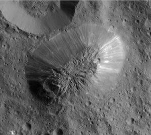 Cryovolcano Ahuna Mons on Ceres.