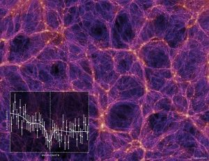 Gold honeycomb-like pattern on purple, black graph inset.