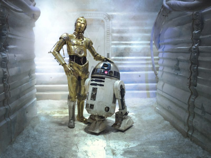 C-3PO and R2-D2.