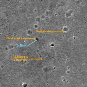 InSight landing site from orbit.