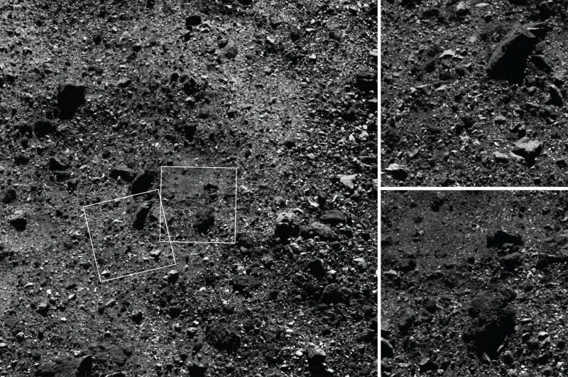 3 images of gray, gravelly, ground.