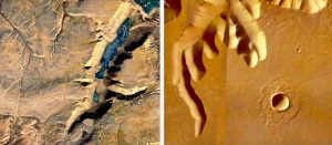 Canyons on Devon Island and Mars.