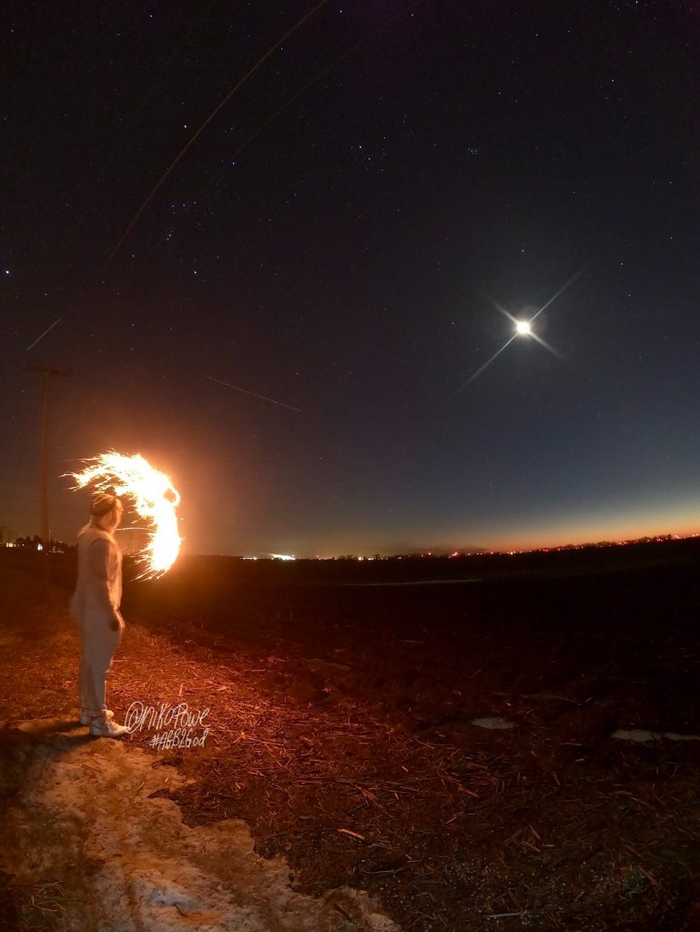 Niko Powe photo of moon and Mars