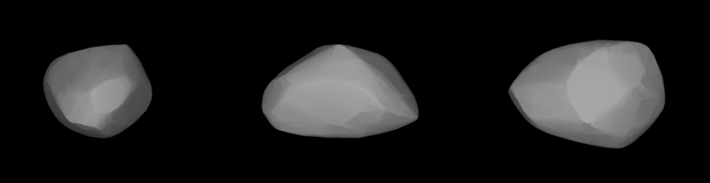 Three possible shapes. All are roundish or oblon and slightly faceted.