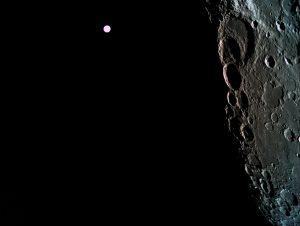 Moon and Earth.