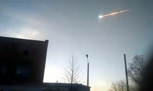 Video still of April 6, 2019 meteor.