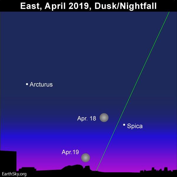 April full moon shines in Virgo   Tonight   EarthSky