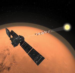 TGO orbiting Mars.