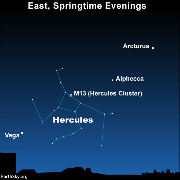 Sky chart of constellation Hercules