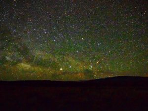Alpha and Beta Centauri, and Crux, low in very starry sky.