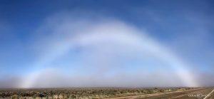 Fogbow over the desert.