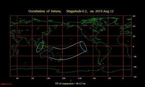Occultation of Saturn August 12, 2019.