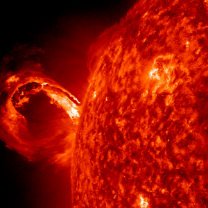 A large flare from the sun.