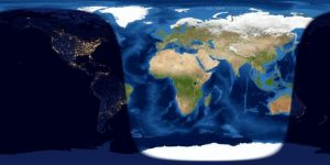 Map showing day and night on Earth.