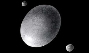 Haumea and two moons.