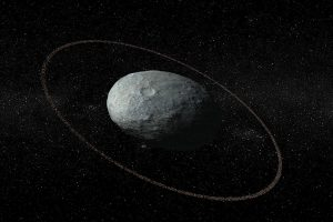 Dwarf planet Haumea and ring.