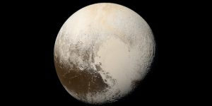 Pluto in natural color.