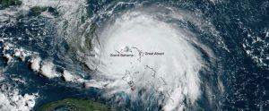 Satellite image of Hurricane Dorian