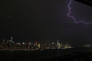 Night lightning over NYC.