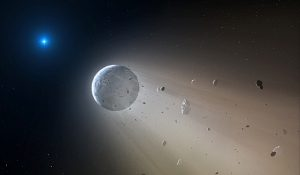 Planet destroyed by white dwarf star.