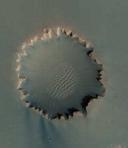 Sand dunes in crater.