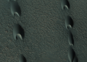 Pointed sand dunes.