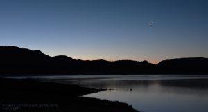Moon and Venus at dawn.