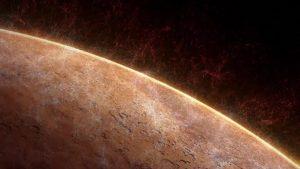 Water vapor leaving Mars' atmosphere.
