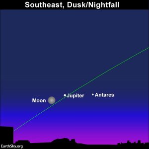 Strawberry Moon pairs up with the planet Jupiter on June 16, 2019.