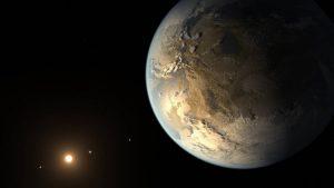 Earth-sized exoplanet near star.