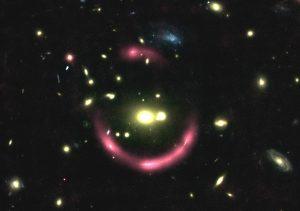 Halo around galaxy.