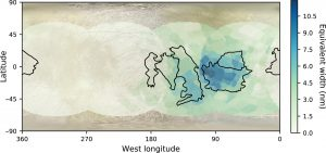 Salt distribution on Europa.