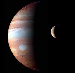 Jupiter and Io.