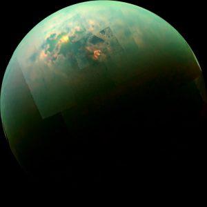 Seas and lakes on Titan.