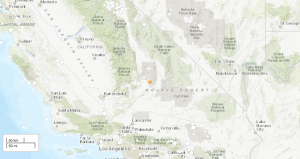 Map showing desert location of July 6 California earthquake.