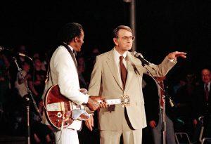 Rock legend Chuck Berry and beloved science popularizer Carl Sagan.