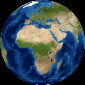 Full earth from new moon.
