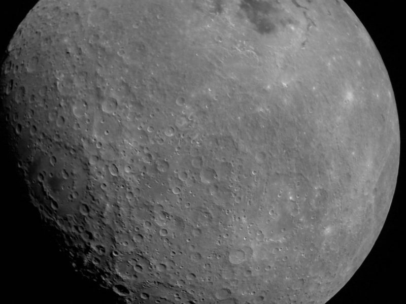 Closeup view of the moon by Chandrayaan-2.