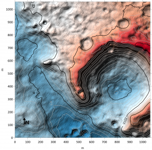 Colorful elevation map.
