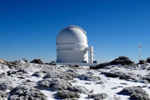 Observatory on mountain top.
