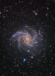 Colorful galaxy.