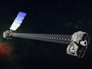 NuSTAR spacecraft in space.