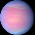 a big ball, blue around the outside and pink in the middle.