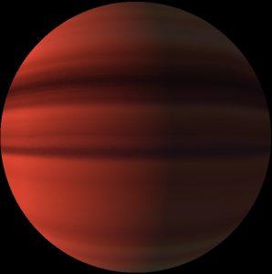 Hot Jupiter exoplanet.