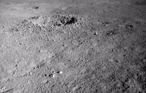 Small crater on moon.